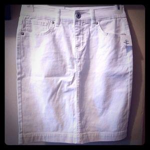 Style & Co Bright White Denim Skirt